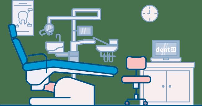 Dent21 - software pro zubaře - zubařské křeslo